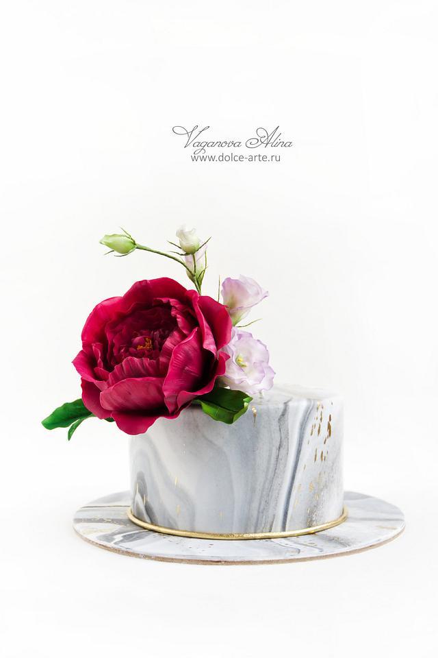 Marsala peony rose