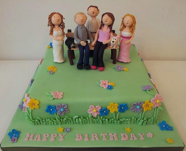 Garden Party Birthday Cake