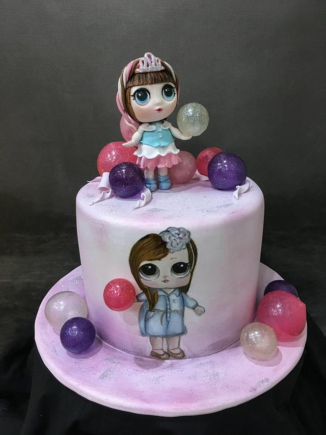 Fantastic Lol Doll Birthday Cake Cake By Sue Deeble Cakesdecor Birthday Cards Printable Riciscafe Filternl