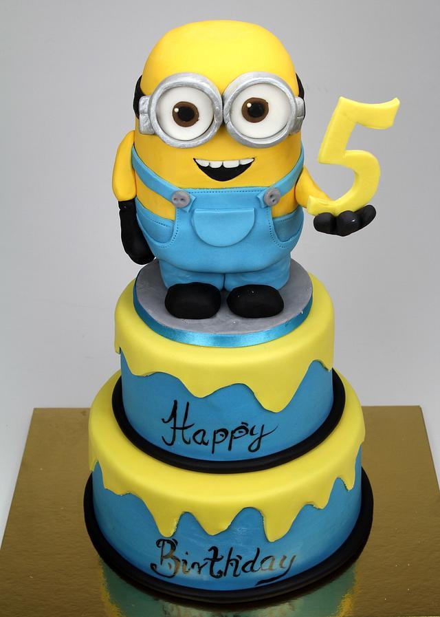 Fantastic Minion Birthday Cake Cake By Beatrice Maria Cakesdecor Funny Birthday Cards Online Unhofree Goldxyz