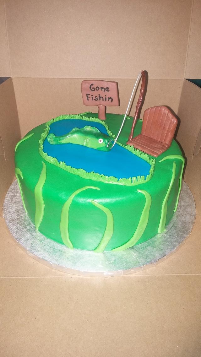 Fabulous Fishing Theme Birthday Cake By M1Bame Cakesdecor Personalised Birthday Cards Cominlily Jamesorg