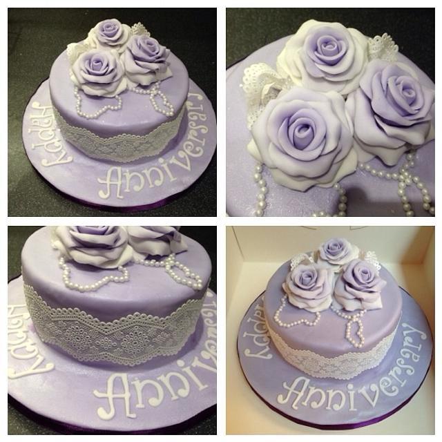Vintage anniversary in purple