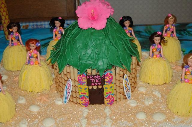 tiki birthday cake