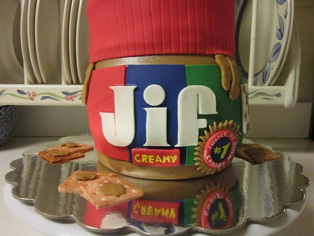 Peanut Butter Jar Cake