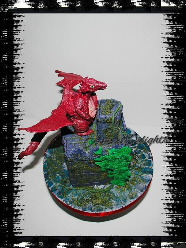 'Dragon on a Medieval Castle'
