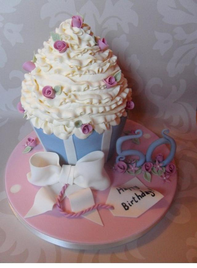 CK-esque Giant Cupcake.