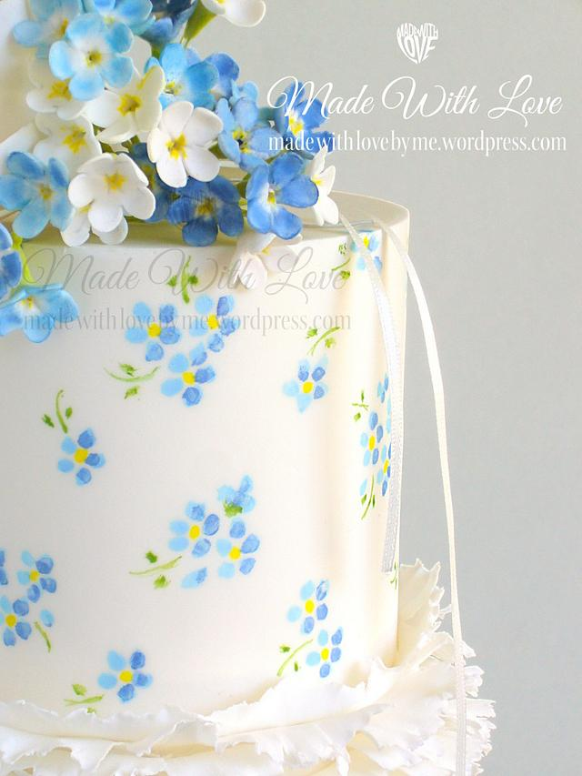 Frills and Forget-Me-Nots Cake