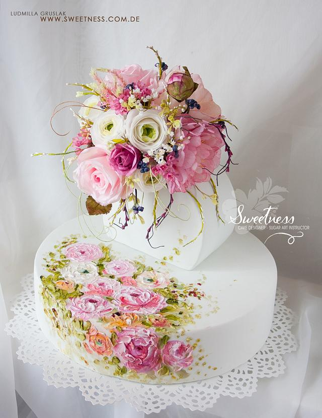 Palette Knife Painting with Royal Icing, Wafer-Paper Bouquet