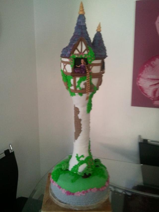 Tangled Tower Cake