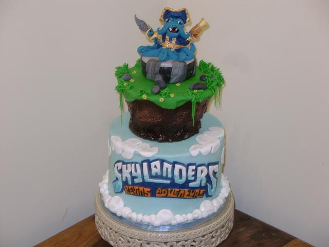 Peachy Skylander Birthday Cake Cake By Dealicious Cakesdecor Funny Birthday Cards Online Elaedamsfinfo