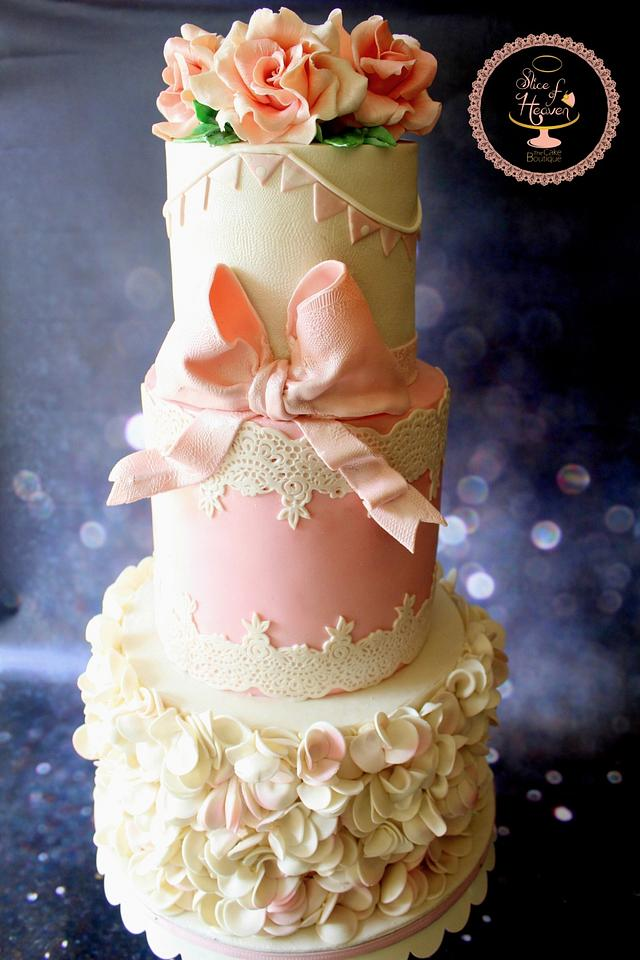 Excellent Shabby Chic Birthday Cake Cake By Slice Of Heaven By Cakesdecor Personalised Birthday Cards Vishlily Jamesorg
