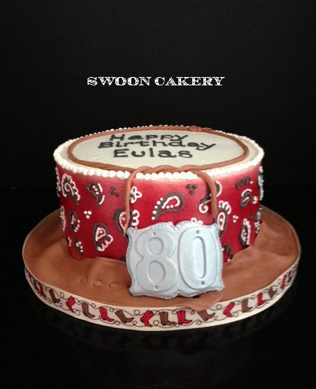 Wondrous Western Birthday Cake By Swooncakery Cakesdecor Birthday Cards Printable Benkemecafe Filternl
