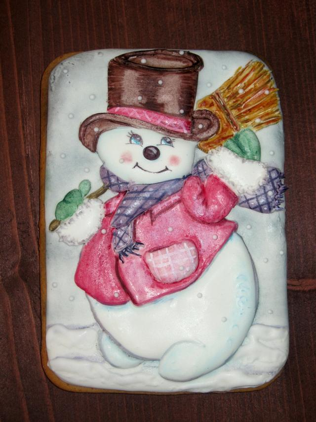 The janitor snowman!