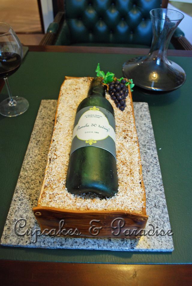 Peachy Wine Bottle Birthday Cake Cake By Andromeda Cakesdecor Funny Birthday Cards Online Unhofree Goldxyz