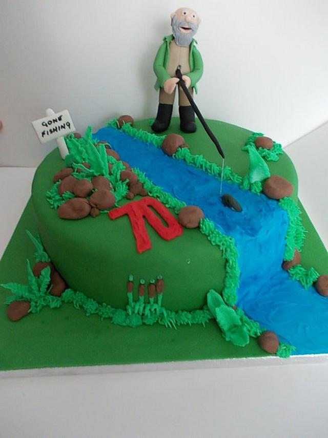 Fine Fishing Birthday Cake Cake By David Mason Cakesdecor Personalised Birthday Cards Epsylily Jamesorg