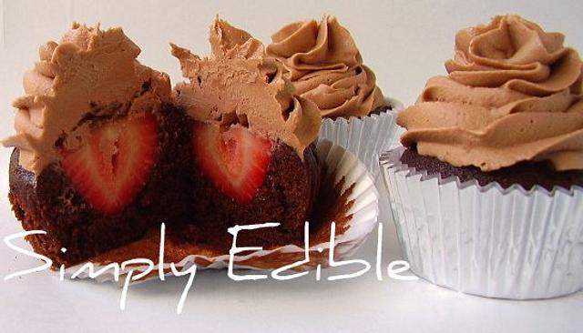 Strawberry Surprise Cupcake