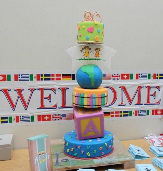 20 years celebrations of St.Francis Preschool & international Festival Cake