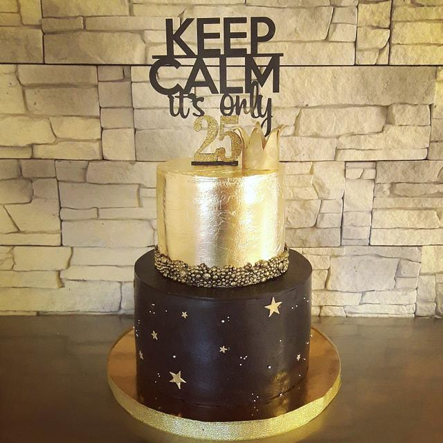Swell Black And Gold Birthday Cake Cake By Victoria Cakesdecor Funny Birthday Cards Online Alyptdamsfinfo
