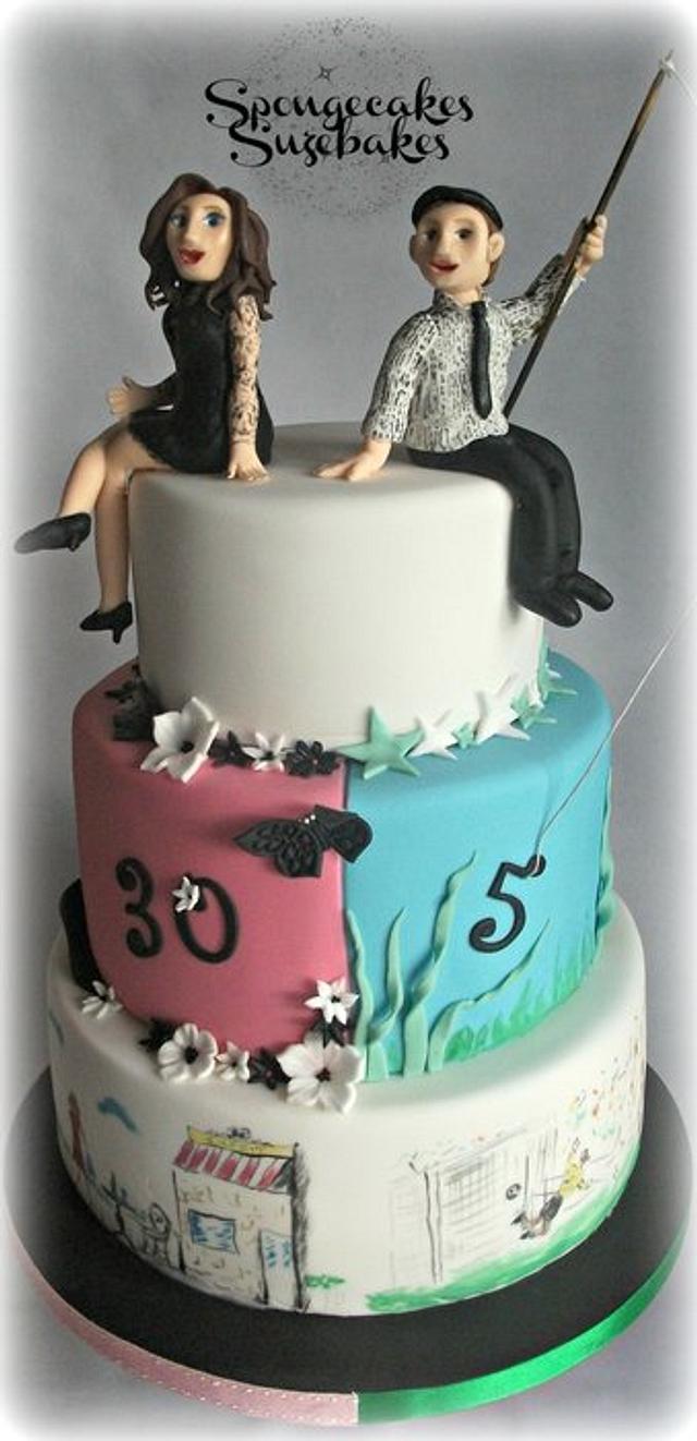 Split Birthday Cake!