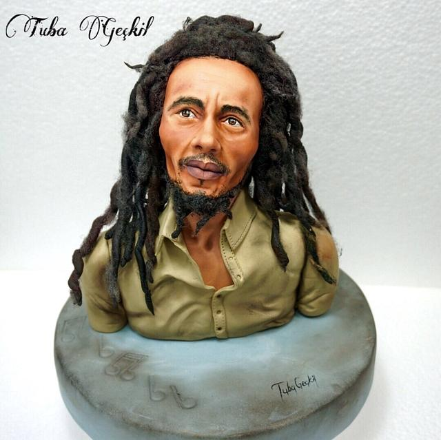 Bob Marley  fondant figure