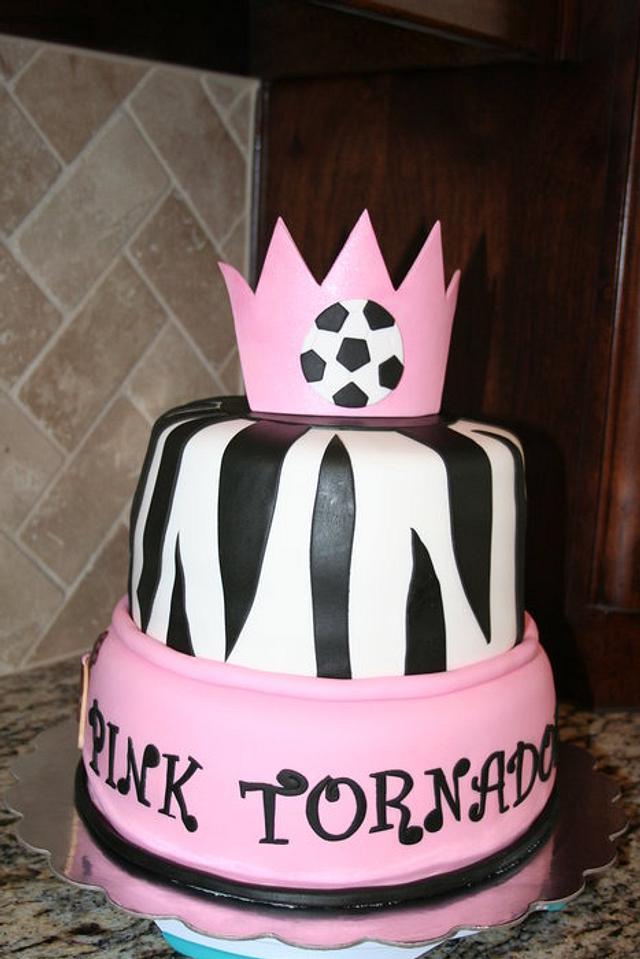Soccer zebra cake
