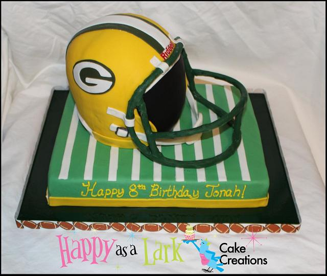 Fabulous Green Bay Packers Cake Cake By Happy As A Lark Cake Cakesdecor Personalised Birthday Cards Veneteletsinfo