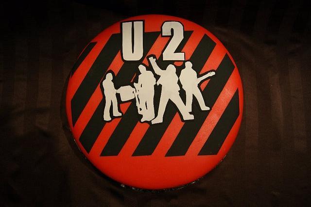 U2 Inspired Birthday Cake