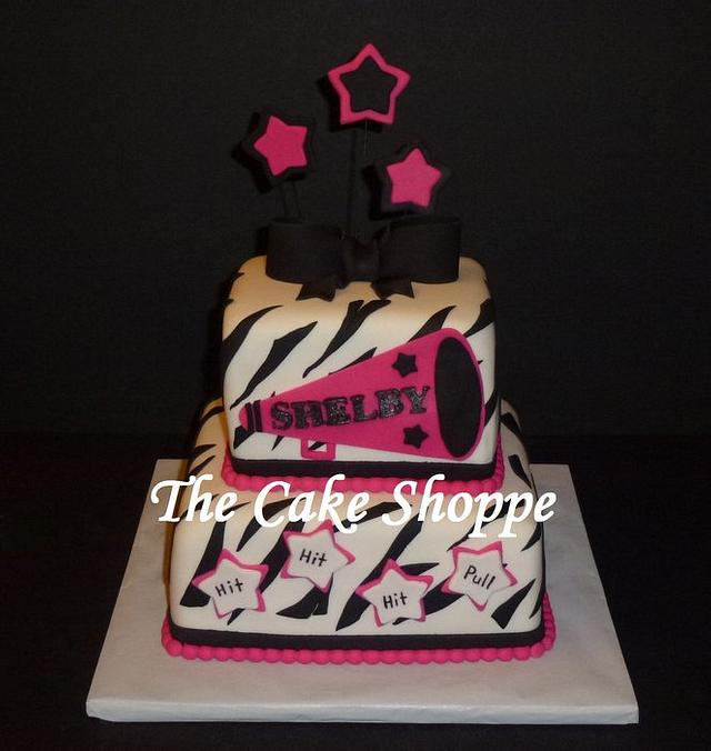 Awesome Cheerleading Cake Cake By The Cake Shoppe Cakesdecor Funny Birthday Cards Online Alyptdamsfinfo