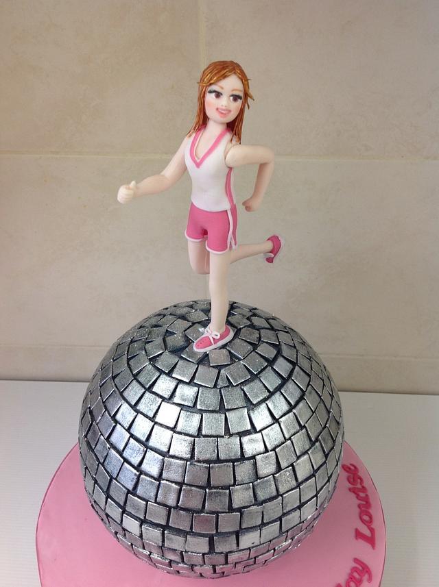 Jogging on a disco ball