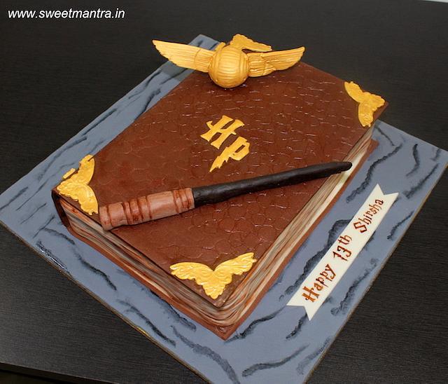 Peachy Harry Potter Book Shaped 3D Fondant Birthday Cake Cake Cakesdecor Funny Birthday Cards Online Alyptdamsfinfo