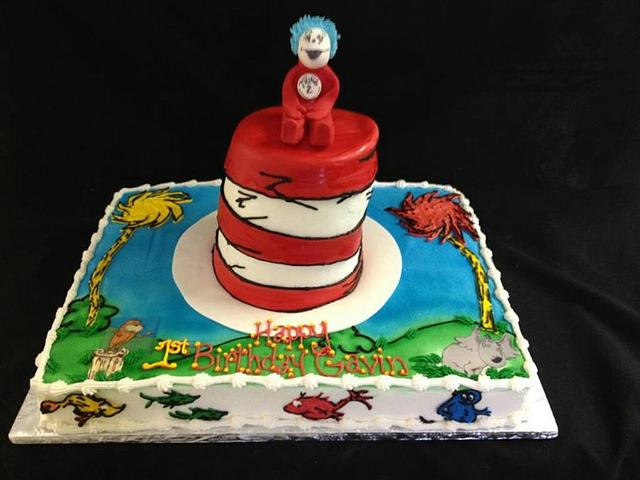 Dr. Suess sheet cake style!