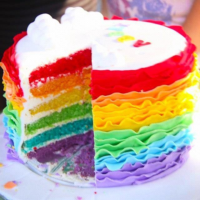 Rainbow Ruffles
