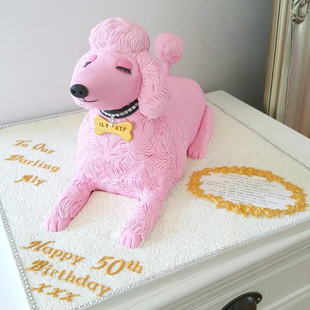 Phenomenal Pink Poodle Dog Cake Cake By Klis Cakery Cakesdecor Funny Birthday Cards Online Aeocydamsfinfo