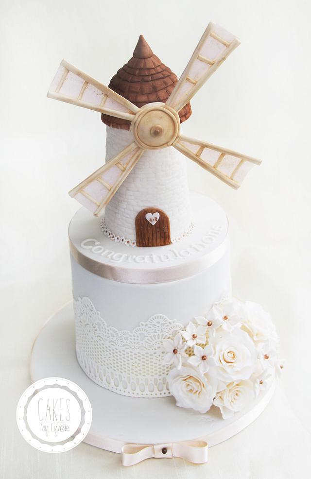Windmill  Engagement Cake