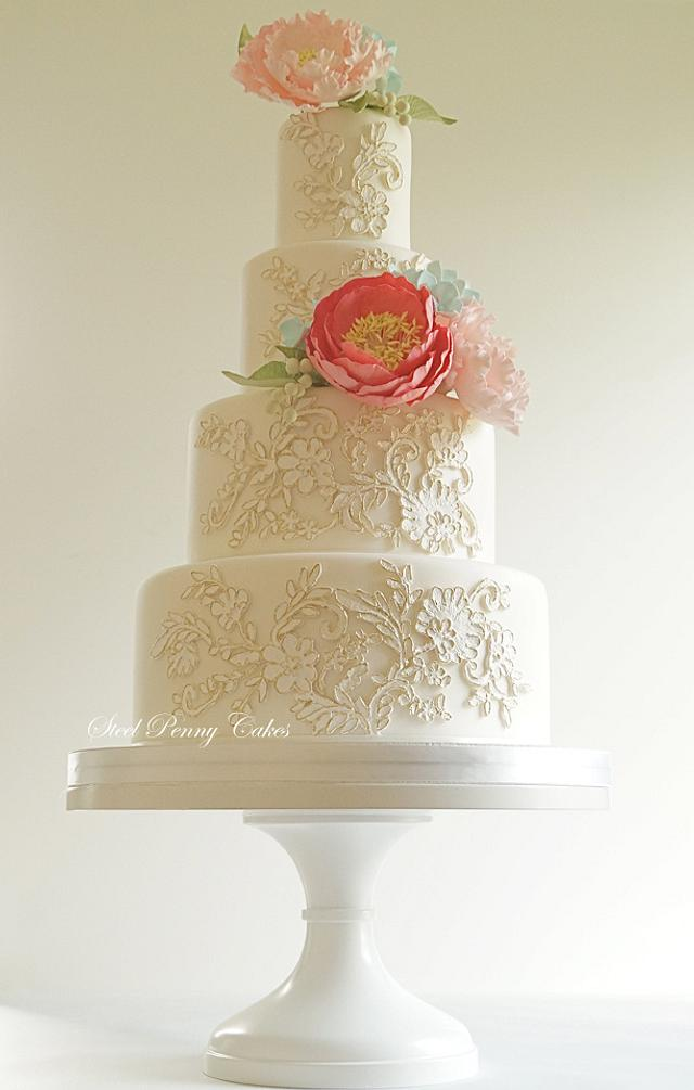 Lace Appliques and Sugar Flowers