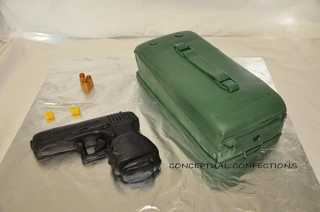 Glock Gun with Ammo Case