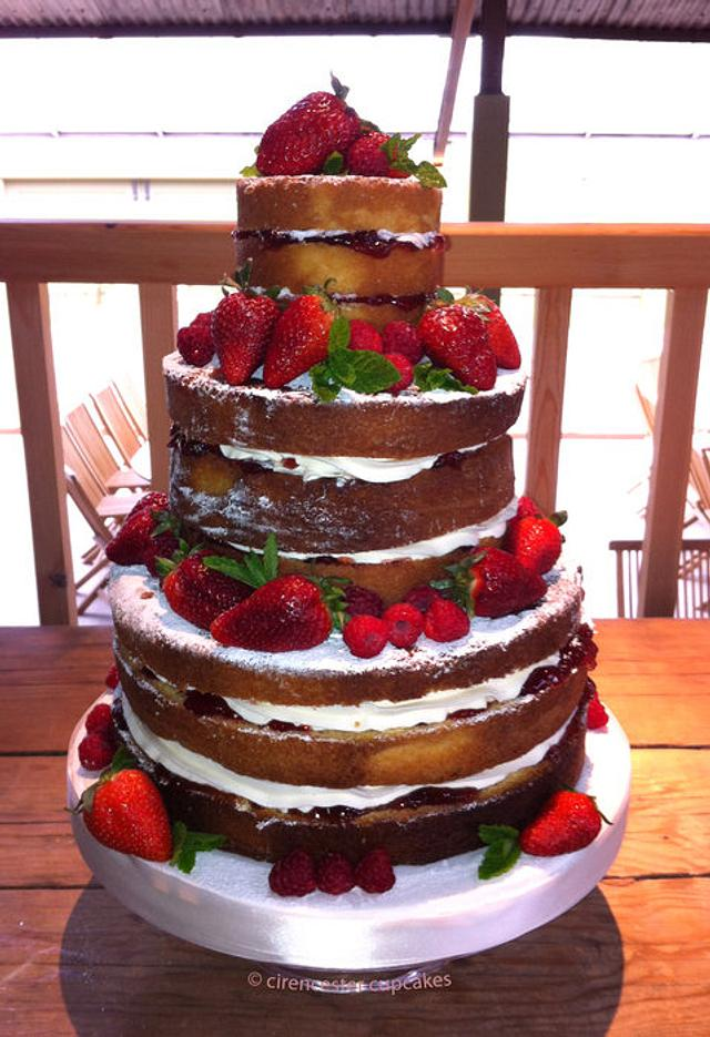 Rustic Victoria Wedding Cake