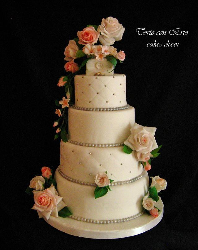 Floreal Wedding cake