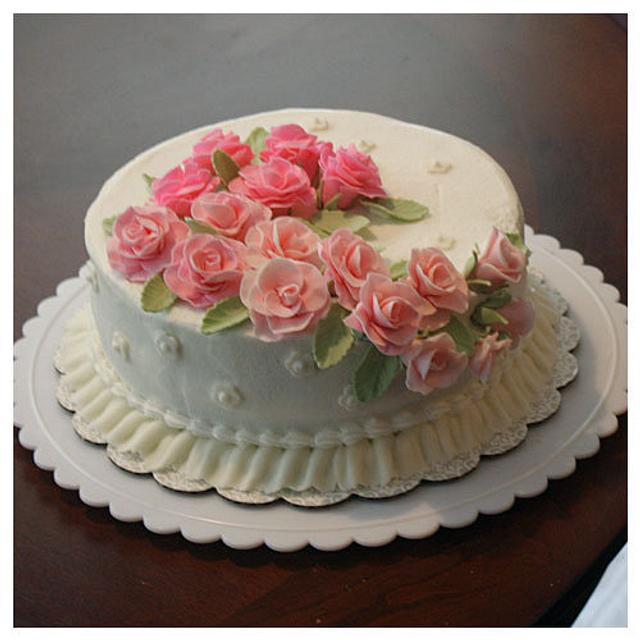 Rose Spray Cake