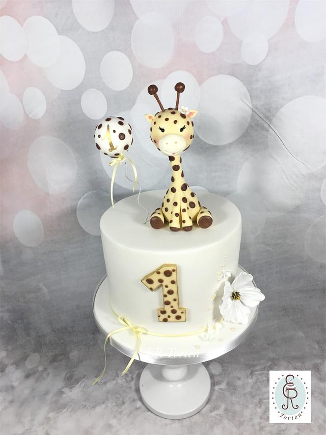 Pleasant Cute Giraffe Cake First Birthday Cake By Er Torten Cakesdecor Funny Birthday Cards Online Elaedamsfinfo