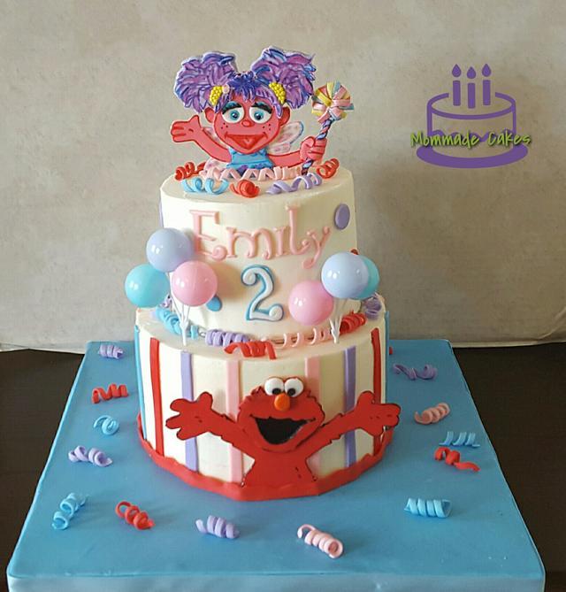 Girly Elmo Cake