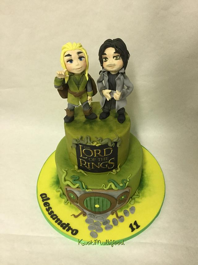 Lord of the ring cake