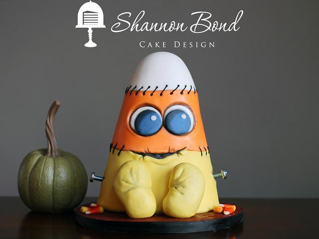 Frankencorn Halloween Cake