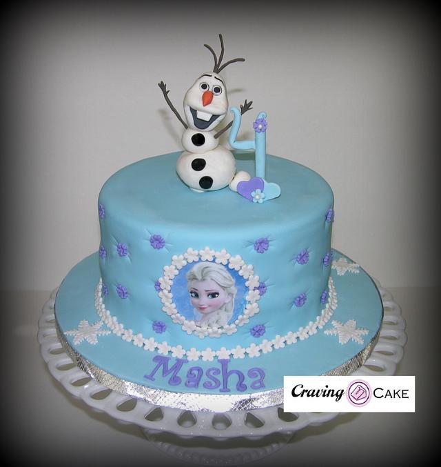 Incredible Single Tier Frozen Birthday Cake Cake By Craving Cake Cakesdecor Personalised Birthday Cards Epsylily Jamesorg