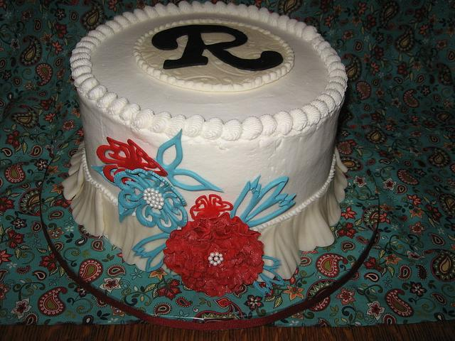 Red and turquoise birthday
