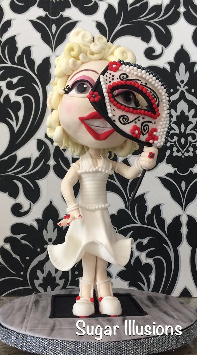 Marilyn Monroe sugar skull