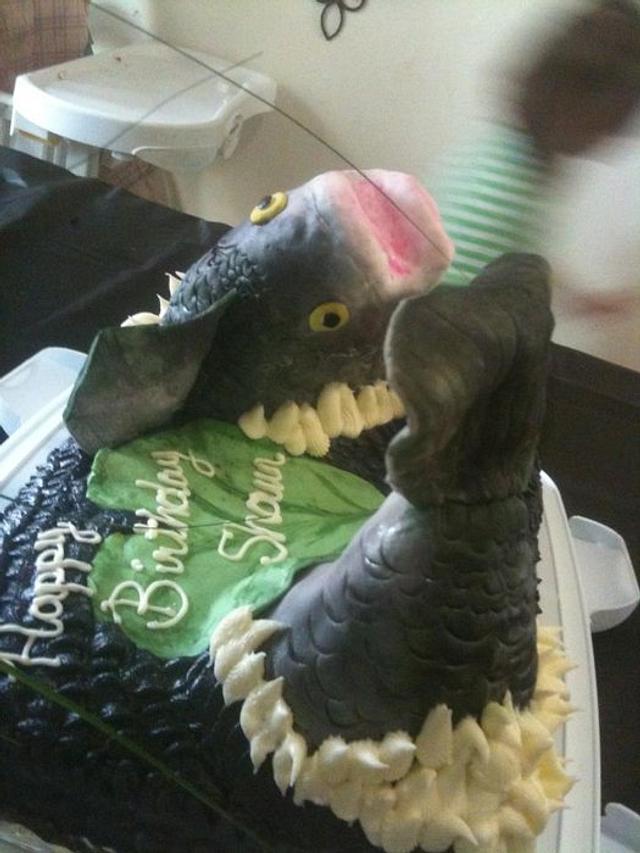Bass fish cake!