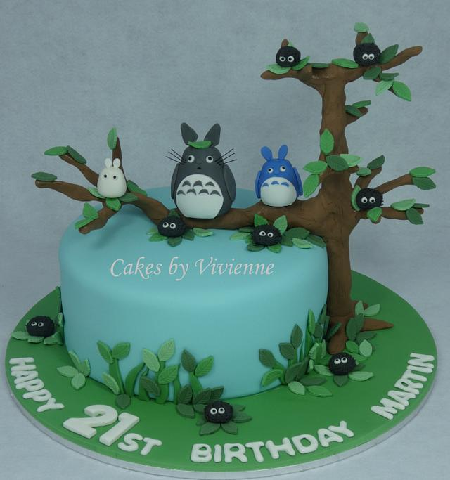 Miraculous Totoro Birthday Cake Cake By Cakes By Vivienne Cakesdecor Funny Birthday Cards Online Aeocydamsfinfo