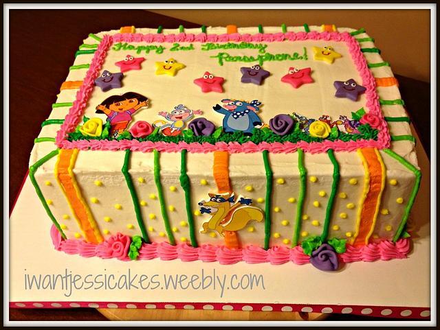 Dora the Explorer sheet cake