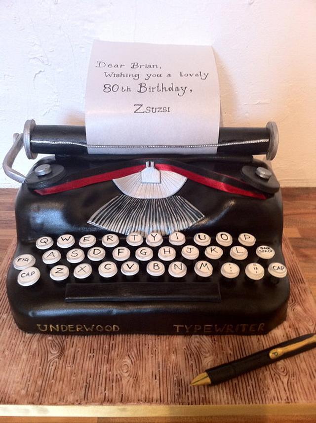 Underwood Typewriter Cake
